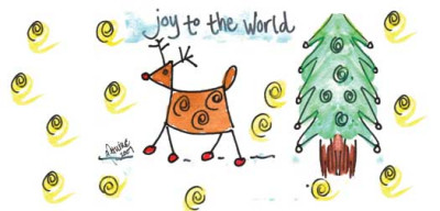 Joy to the World Address Labels by Amy S. Petrik | LBAMY-08