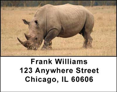 Rhinos Address Labels | LBANI-35