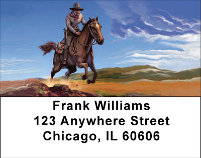 The Wild West Address Labels | LBBBA-36