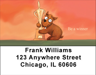 Be A Winner Address Labels | LBBBC-62