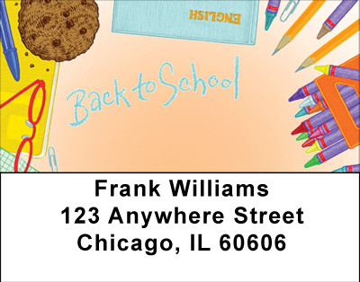 Back To School Address Labels | LBBBE-38