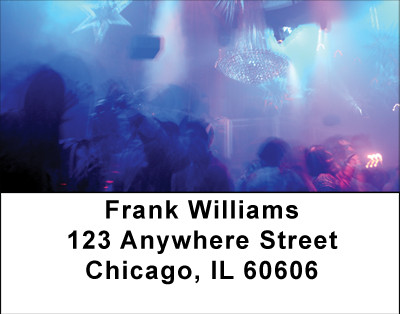 Disco Blues Address Labels | LBBBF-38