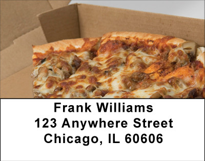 Delivery Pizza Address Labels | LBBBF-56