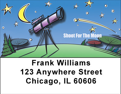 Shoot For The Moon Address Labels | LBBBG-08