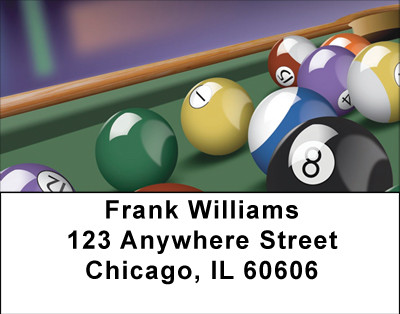 Let's Play Pool Address Labels | LBBBG-86