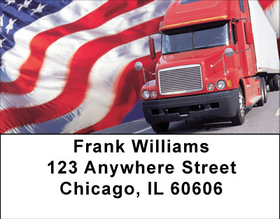 Patriotic Truckers Address Labels | LBBBH-77
