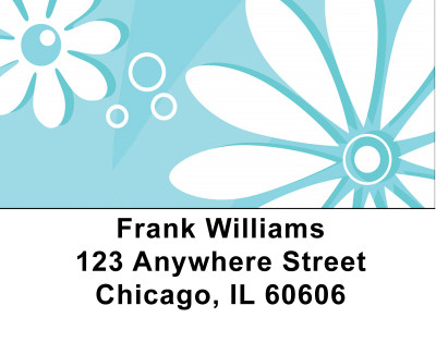Daisy Blues Address Labels | LBBCE-75