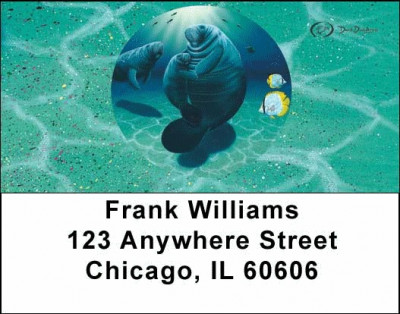 Manatee's Address Labels by David Dunleavy | LBDUN-04