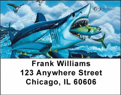 Fishermen's Address Labels by David Dunleavy | LBDUN-05