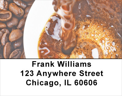 Wired on Coffee Address Labels | LBFOD-13