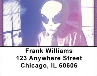 Working With aliens Address Labels | LBQBH-66