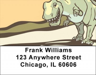 Cute & Friendly Dinosaurs Address Labels | LBZANJ-97