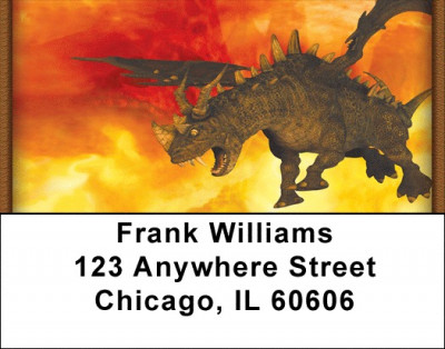 Fire Breathing Dragons Address Labels | LBZANK-04