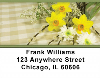 Daffodils Address Labels | LBZFLO-12