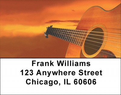 For Guitar Lovers Address Labels | LBZMUS-08