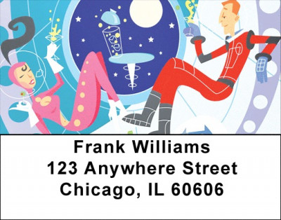 Retro Space Address Labels | LBZSPA-02