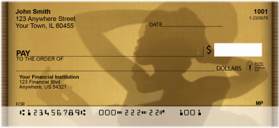Female Silhouettes Personal Checks | ZAFR-08