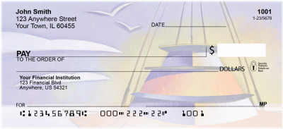 Artistic Look At Sailing Personal Checks | ZSAI-18