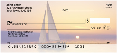 Sailboats At Sunrise Personal Checks | ZSCE-73