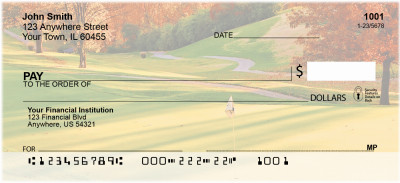 Golf Courses In Autumn Personal Checks | ZSPO-41