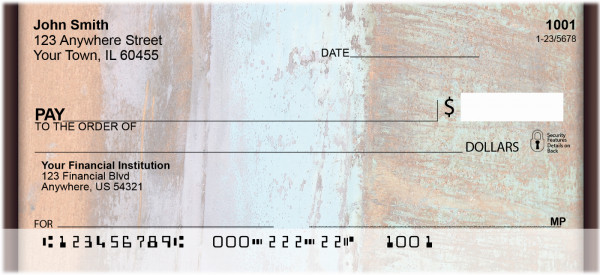 Rusty Metals Personal Checks | ABS-08