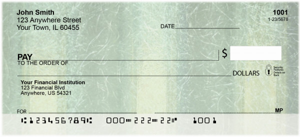 Recycle In Green Personal Checks | ABS-31