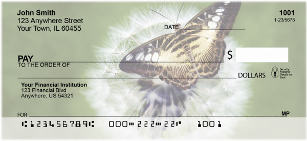 Butterflies in Nature Personal Checks | ANI-17