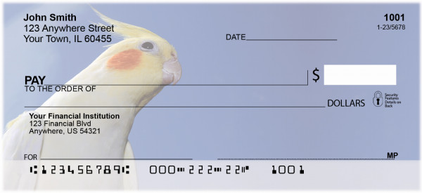 Cockatiels Personal Checks | ANI-39