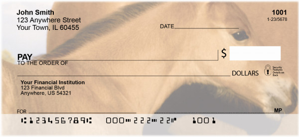 Horses Up Close and Personal Personal Checks | ANI-83