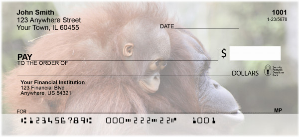 Baby Monkeys Personal Checks | ANJ-47