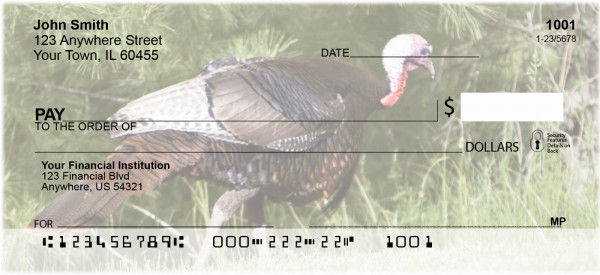 Turkey Treasures Personal Checks | ANJ-82