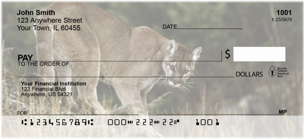 Cougar Personal Checks | ANK-28