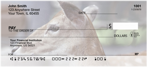 Deer Closeups Personal Checks | ANK-31