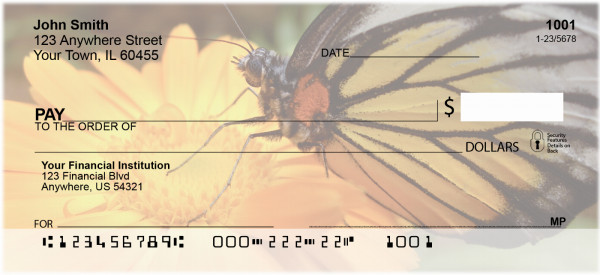 Insects On Flowers Personal Checks | ANK-54