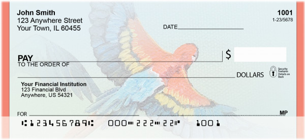 Parrots On Parade Personal Checks | BBA-68