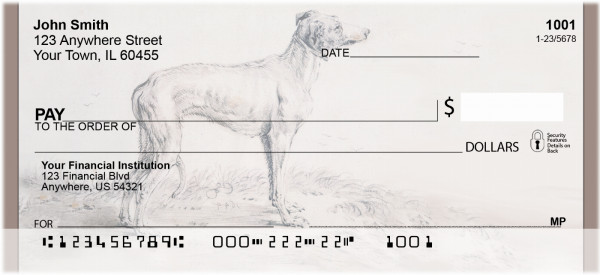 Animal - Dogs - BBA-80- Personal Checks | BBA-80