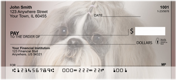 Shih Tzu Portraits Personal Checks | BBB-25