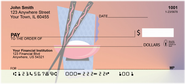 Colorful Asian Symbols Personal Checks | BBB-56