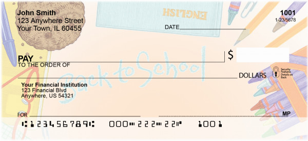 Back To School Personal Checks | BBE-38