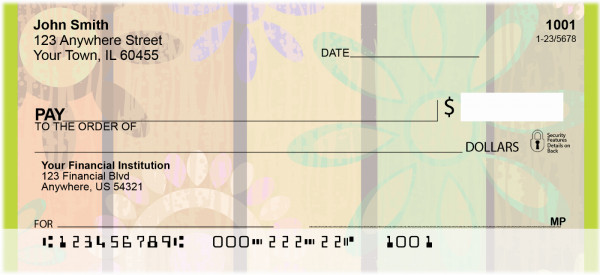 Shabby Chic Flower Power Personal Checks | BBG-04