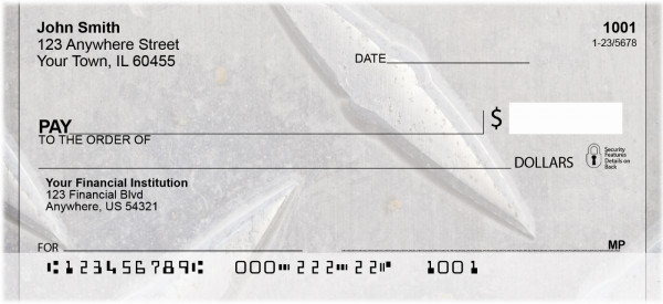 Steel Diamond Plate Personal Checks | BBH-66