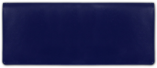 Blue Business Vinyl Pocket Checkbook Cover | CVM-BLU01