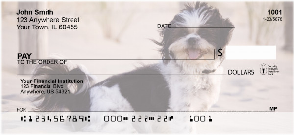 Shih Tzus Personal Checks | DOG-22