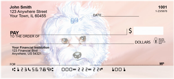 All Gussied Up Personal Checks | DOG-32
