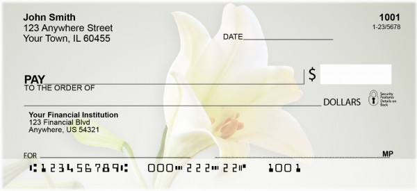 Easter Lilies Personal Checks | FLO-26