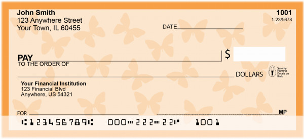 Butterfly Personal Checks | GEO-04
