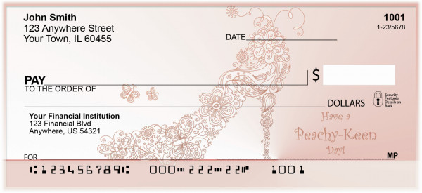 Peachy Keen Days Personal Checks | GIR-11