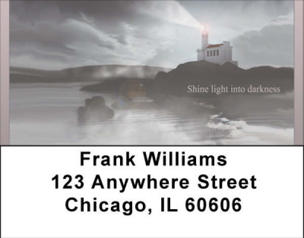 Shine Light Into Darkness Address Labels | LBBBC-68