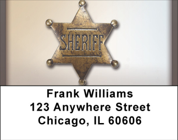 Sheriff Badge Address Labels | LBBBE-81