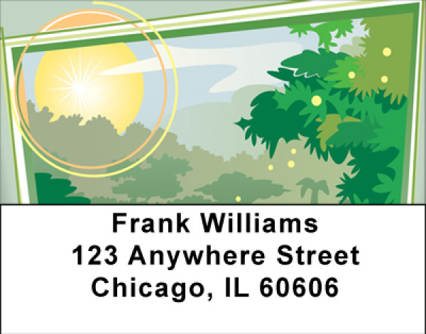 Rain Forest Address Labels | LBBBG-81